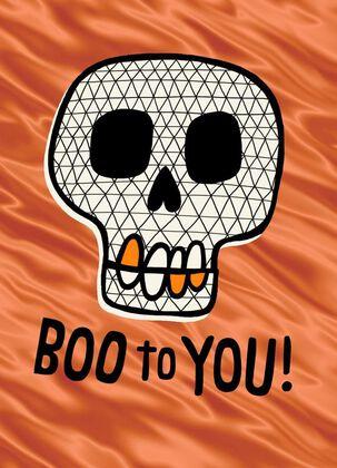 Boo Skull Halloween Card