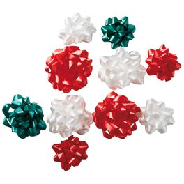 Red/Green/White Bows, Bag of 10, , large