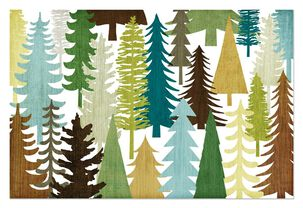 Woodland Trees Father's Day Card From Us
