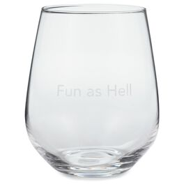 Fun as Hell Stemless Wine Glass, 20 oz., , large