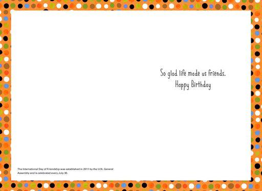 Pet Pyramid Birthday Card for Friend,
