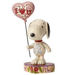 Jim Shore I Heart U—Snoopy With Heart Balloon Figurine, , large