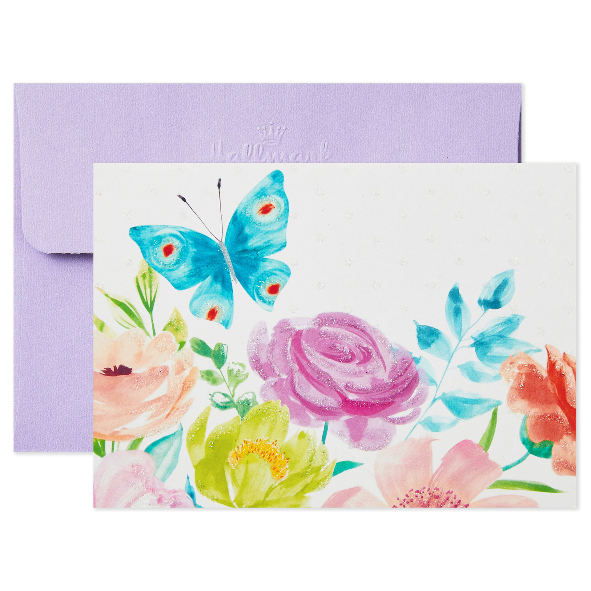 SET OF 8 HALLMARK CONNECTIONS Purple /& Green NOTE CARDS /& ENVELOPES
