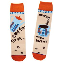 Coffee First Toe of a Kind Socks, , large