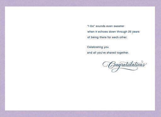 Purple Bubbles 25th Anniversary Card,