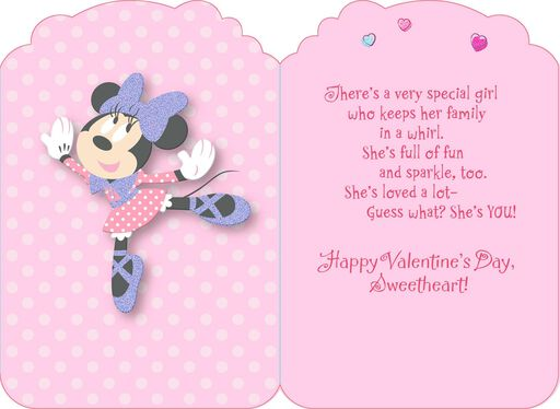 Disney Minnie Mouse Fun Daughter Valentine's Day Card,