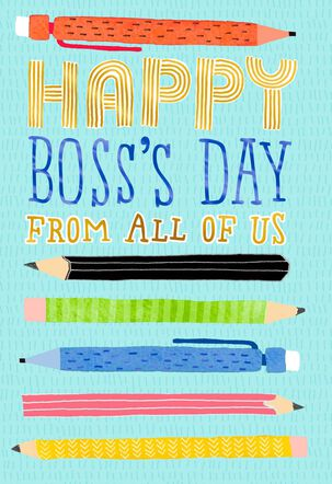 Pencils Boss's Day Card From Us