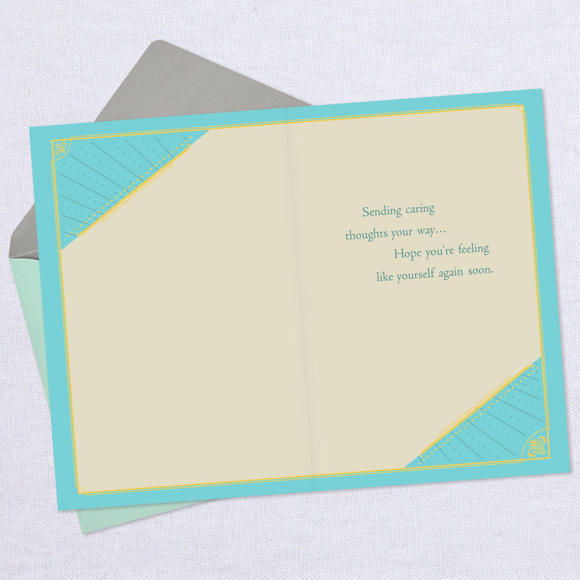 Get Well Wish You Well Thinking of You Sunrise Card Hallmark New with Envelope