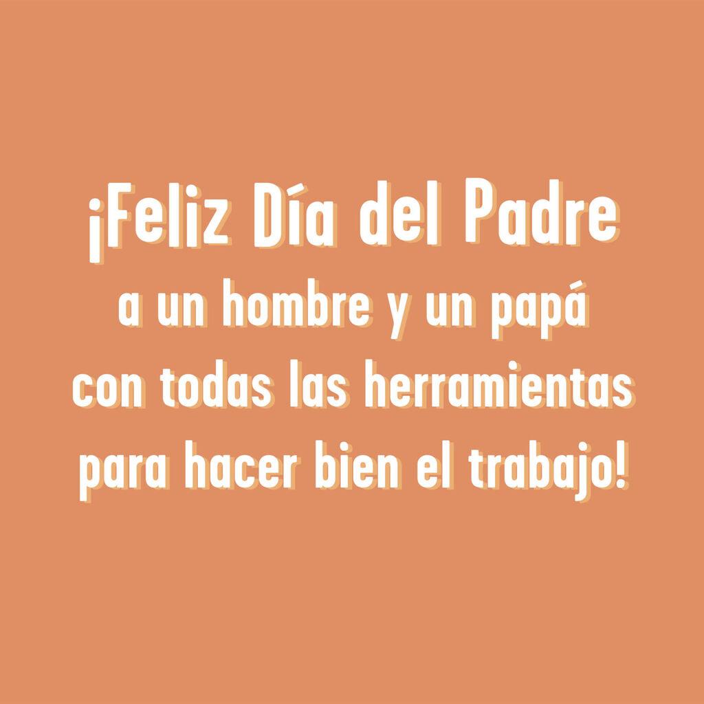 Dad Tools Funny Jumbo Spanish-Language Father's Day Card, 19 25