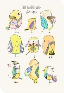 Illustrated Easter Chicks Easter Card,
