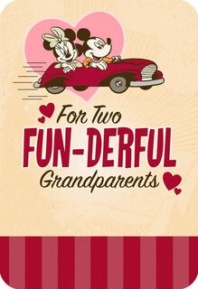 Mickey and Minnie FUN-derful Grandparents Valentine's Day Card,