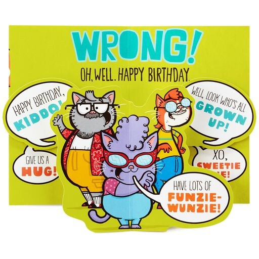 Not A Kid Anymore Funny Pop Up 16th Birthday Card