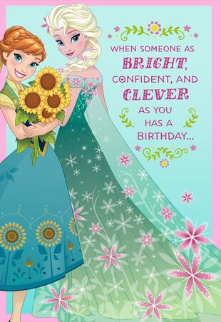 Disney Frozen Best Day Ever Musical Birthday Card