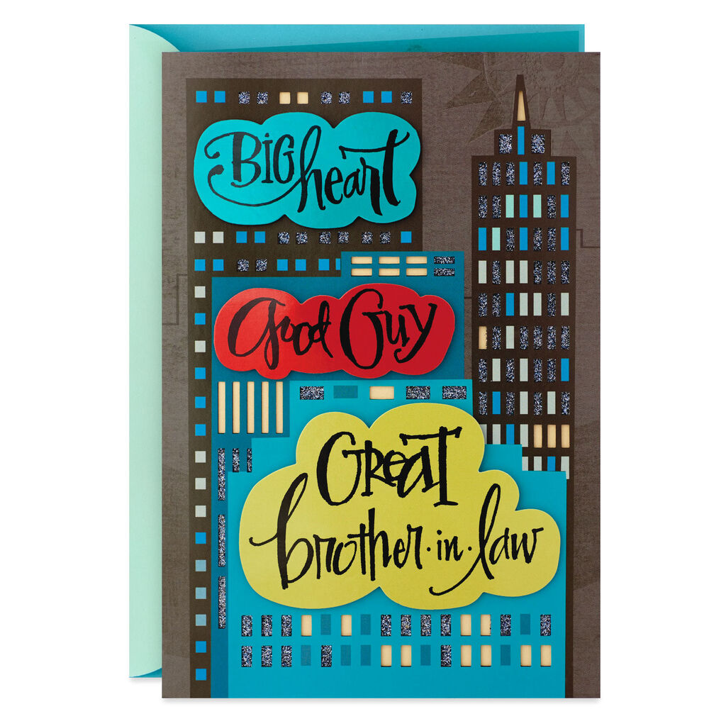 Big Heart Good Guy Birthday Card For Brother In Law