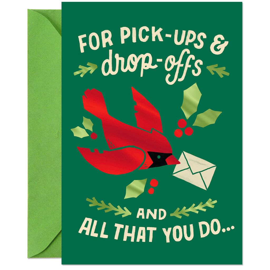 Cardinal Thank You Christmas Card for Delivery Driver - Greeting ...