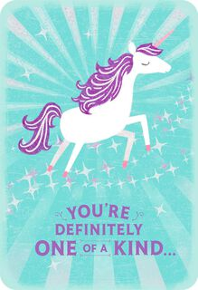 Unicorn You're One of a Kind Appreciation Card,