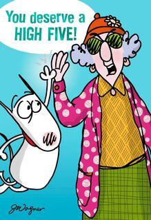 High Praise Funny Congratulations Card,