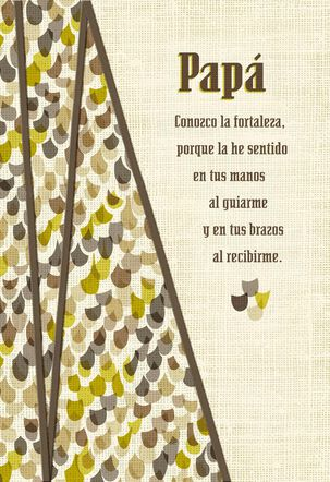 My Heart is Grateful for You Spanish-Language Father's Day Card for Dad