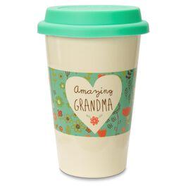 Amazing Grandma Insulated Travel Mug, 15 oz., , large
