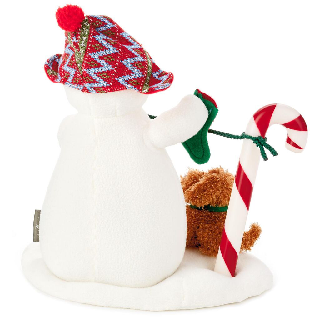 Stockings Hung With Care Snowman Musical Stuffed Animal With Light