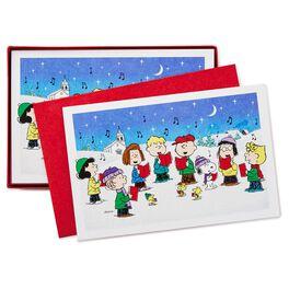 Peanuts® Gang Caroling Christmas Cards, Box of 40, , large