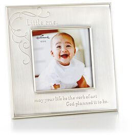 Silver Metal Religious Picture Frame, 4x4, , large