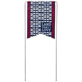 Land I Love Patriotic Garden Flag With Stand, , large