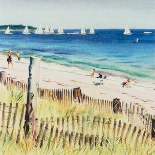 Vintage Beach Vacation Blank Card