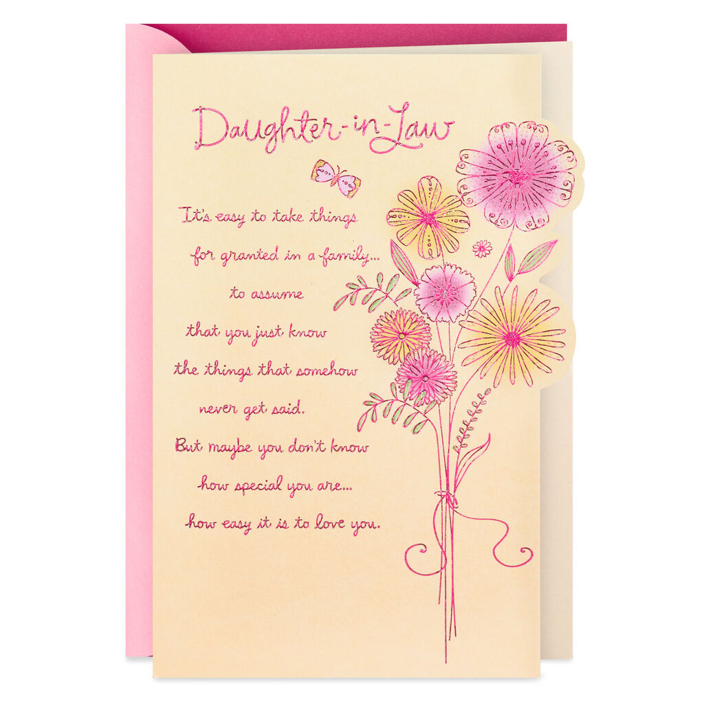 How Special You Are Birthday Card For Daughter In Law