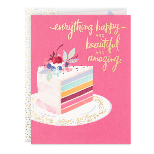 Fancy Layered Cake Birthday Card
