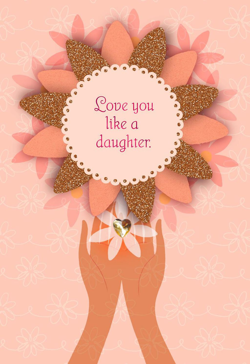 Love You Like A Daughter Birthday Card
