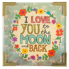 Natural Life Love You to the Moon and Back Corner Magnet, , large
