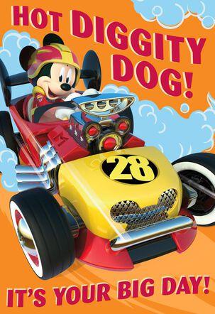 Mickey Mouse Racin' Fun Birthday Card With Sound