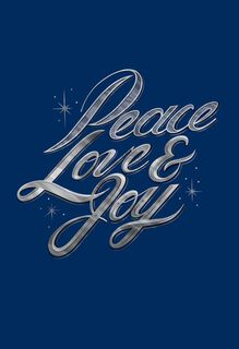 Message for Peace, Love and Joy Christmas Card,