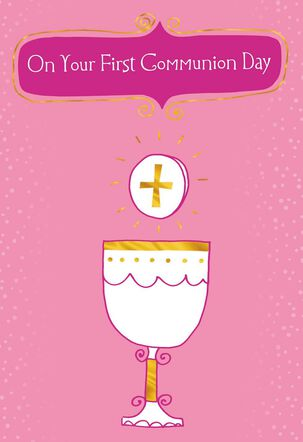 The Love of Christ First Communion Card