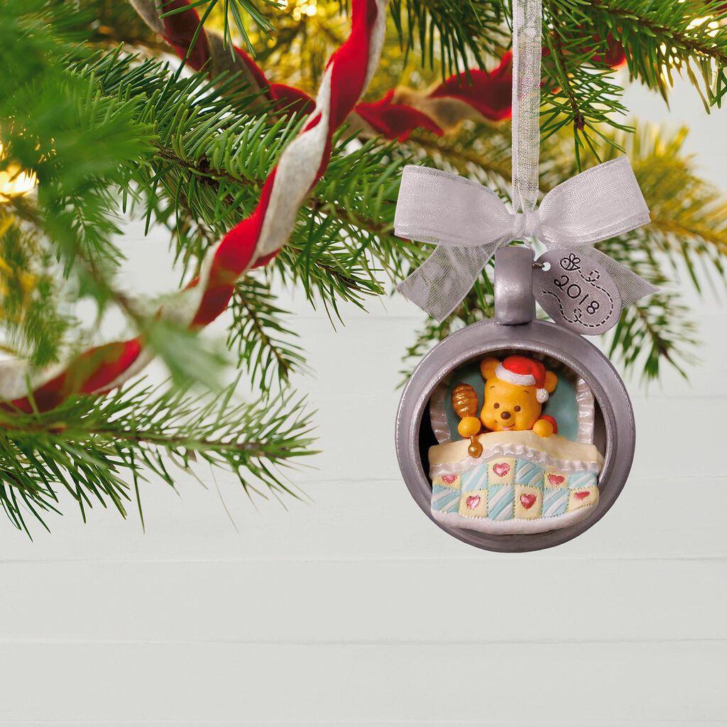 disney winnie the pooh babys first christmas 2018 metal ornament