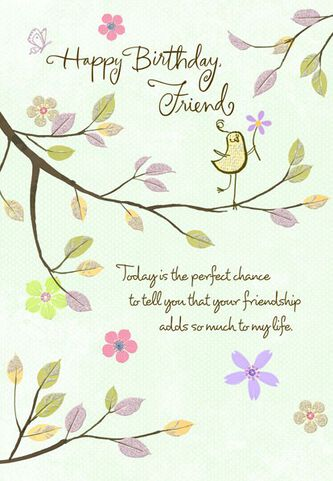 Thankful friend birthday wishes card greeting cards hallmark thankful friend birthday wishes card m4hsunfo Image collections