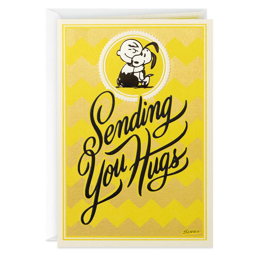 Peanuts® Charlie Brown and Snoopy Sending Hugs Get Well Card