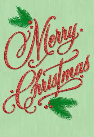 Thinking and Thanking at Christmas Card