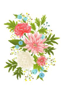 Flowers Mother's Day Card,