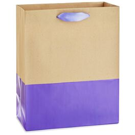 "Dipped Lavender Medium Gift Bag, 9.5"", , large"