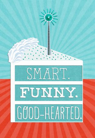 Smart, Funny, Good-Hearted Birthday Card for Son