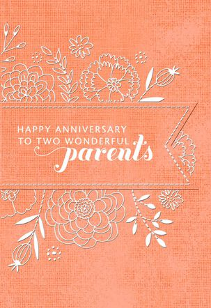 A Marriage to Admire Anniversary Card for Parents