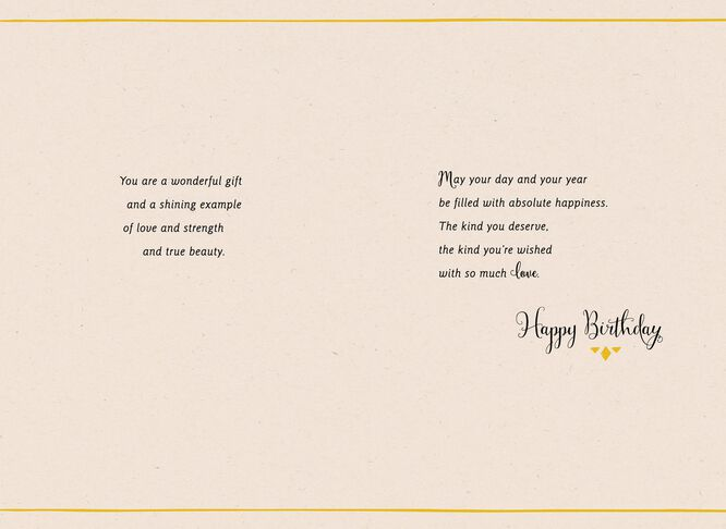 Mama You Are a Wonderful Shining Example Birthday Card – Example of a Birthday Card