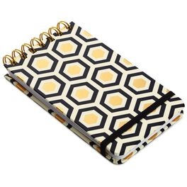 Classic Black and Gold Steno Notebook, , large