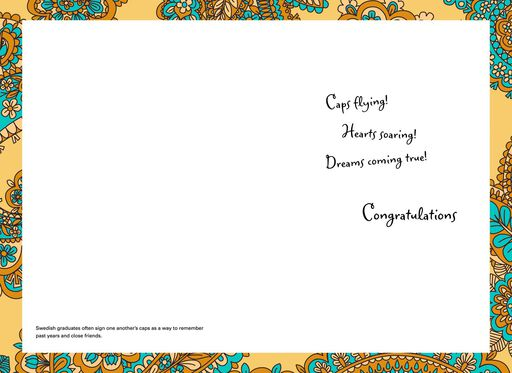 UNICEF Caps Flying  Graduation Card,