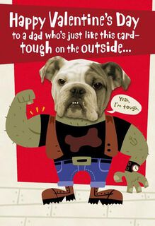 Tough Guy Dad Valentine's Day Card,