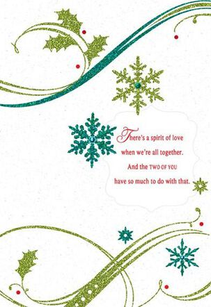 Celebrating Both of You Christmas Card