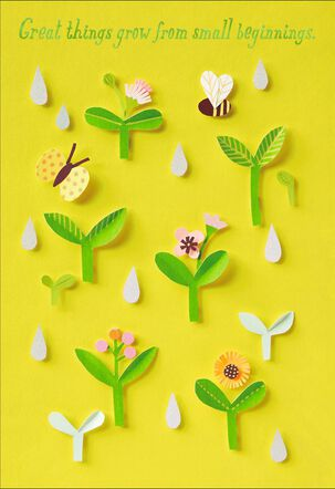 Paper Craft Flowers and Butterfly New Baby Card
