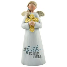 Have Faith Religious Angel Figurine, , large